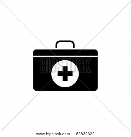 First aid box solid icon, medicine, medical cross sign vector graphics, a filled pattern on a white background, eps 10.
