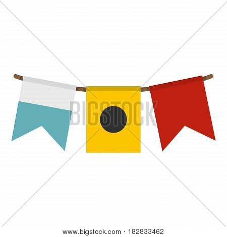Colorful flags icon flat isolated on white background vector illustration