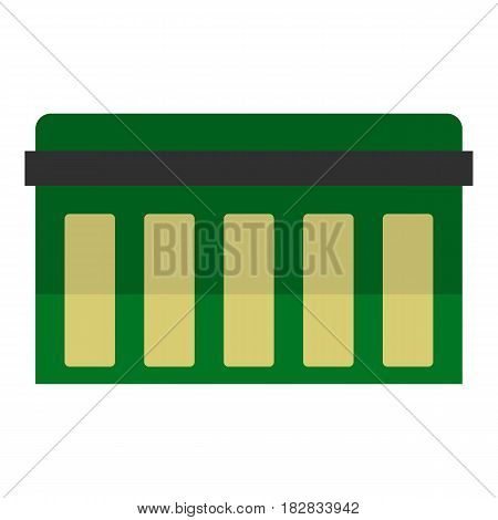 Circuit board, technology icon flat isolated on white background vector illustration
