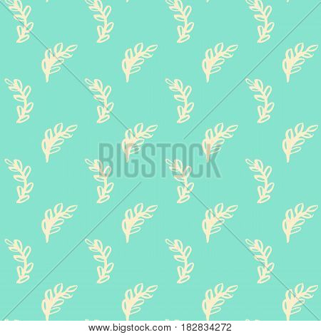 Natural Leaf Seamless Pattern. Vector Illustration of Spring Tileable Background.