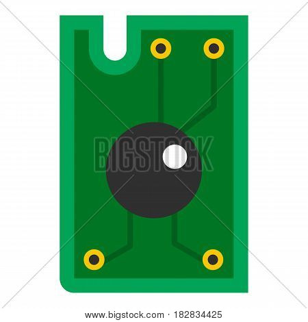 Processor chip icon flat isolated on white background vector illustration