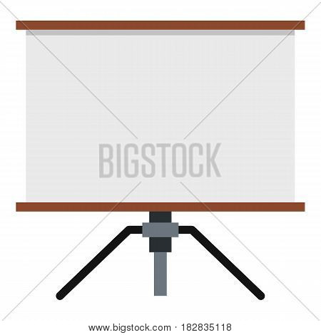 Presentation screen icon flat isolated on white background vector illustration