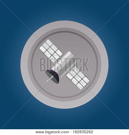 Satellite communication technology icon vector illustration graphic design