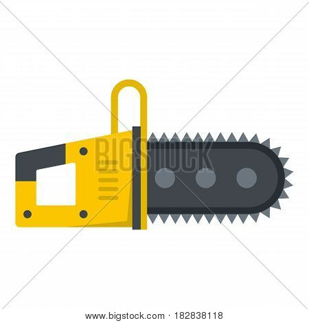 Chainsaw icon flat isolated on white background vector illustration