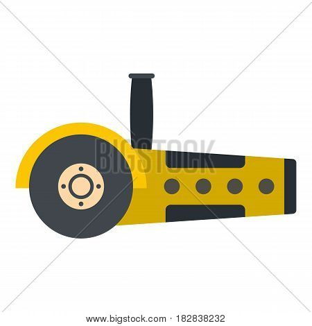 Yellow circular saw icon flat isolated on white background vector illustration