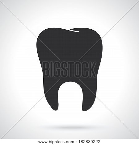 Vector illustration. Silhouette of human tooth. Oral hygiene symbol. Patterns elements for greeting cards, wallpapers