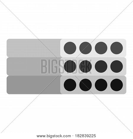 Stack of precast reinforced concrete slabs icon flat isolated on white background vector illustration