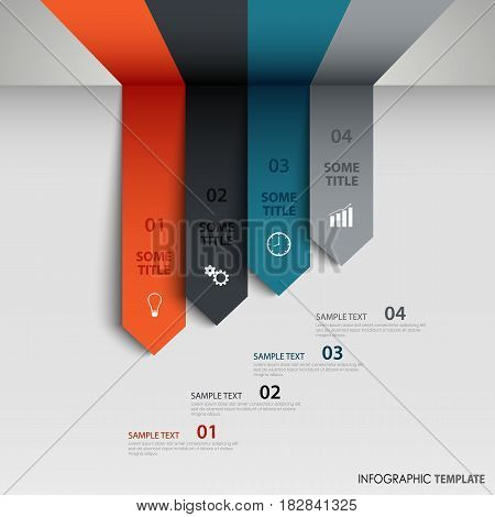 Info graphic with abstract directional arrows template vector eps 10