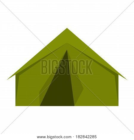 Tourist or a military tent icon flat isolated on white background vector illustration