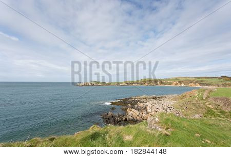 Rocky bays close to Cemaes Bay in Anglesey North Wales