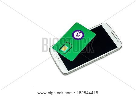 Smartphone and SIM card of the operator of cellular communication with function 4G +