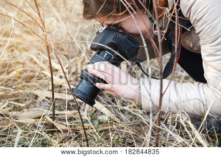 The Girl The Photographer Holds The Camera