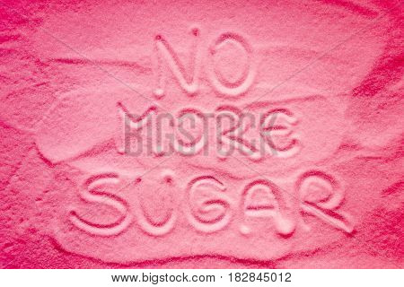 No more sugar sign with pink color