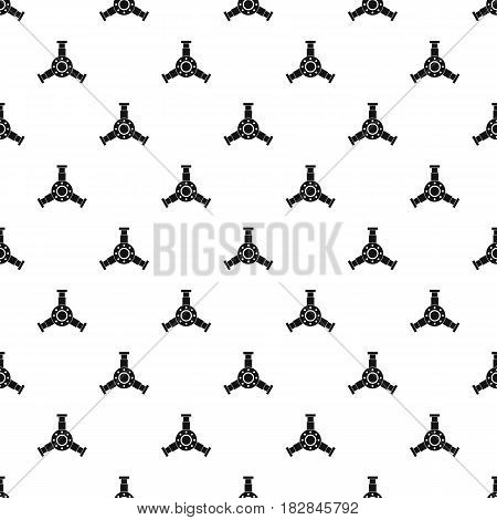 Round mechanic detail pattern seamless in simple style vector illustration