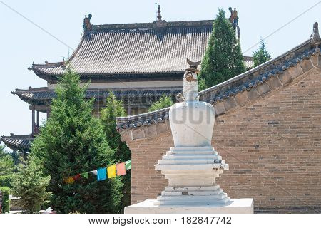 Inner Mongolia, China - Aug 14 2015: Meidai Lamasery (meidai Zhao). A Famous Historic Site In Tumed