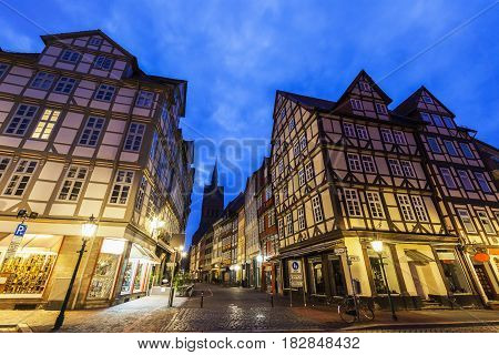 Colorful architecutre of Hanover. Hanover Lower Saxony Germany.