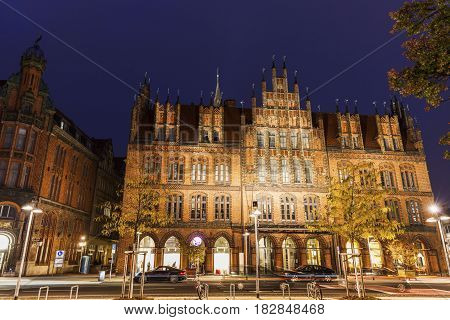 Old Town Hall in Hanover. Hanover Lower Saxony Germany.