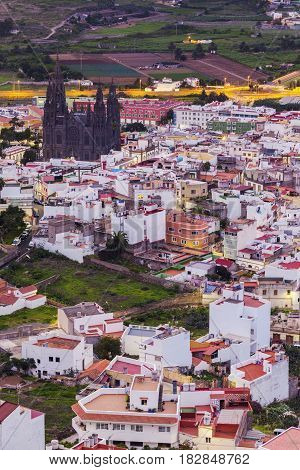 Church Of San Juan Bautista in Arucas. Arucas Gran Canaria Canary Islands Spain.