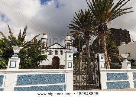 Ermita de las Nieves in Puerto de las Nieves. Gran Canaria Canary Islands Spain.