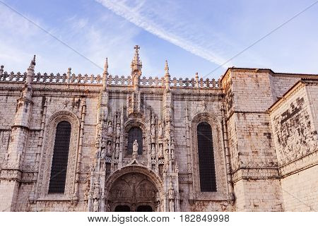 Jeronimos Church in Belem. Belem Lisbon Portugal.