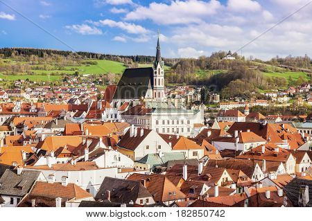 Beautiful Cesky Krumlov. Cesky Krumlov South Bohemia Czech Republic.