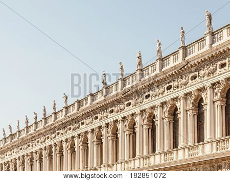 Venice, Italy - Columns Perspective