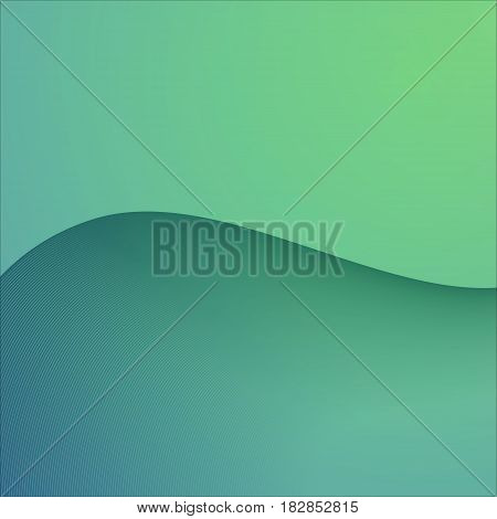 Vector Abstract Background. Green Neutral Backdrop with Curve Line for Presentation or Buseness Card and Banner Decor.