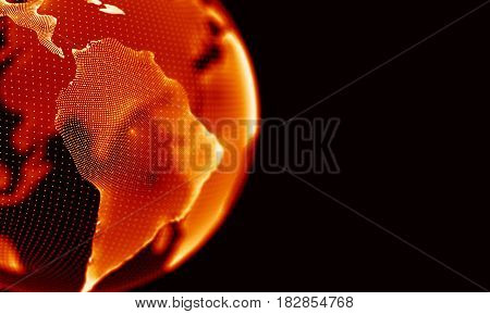 Abstract Black Geometrical Background . Connection structure. Science background. Futuristic Technology HUD Element . onnecting dots and lines . Big data visualization and Business .