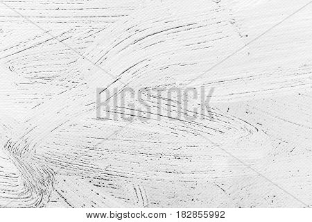 Textured Abstract White Canvas With Expressive Brush Strokes