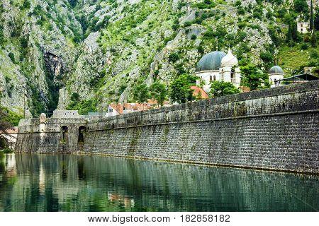 Fortress of old town Kotor Montenegro landmark