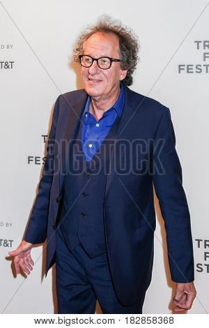 NEW VYORK, NY-APRIL 20: Actor Geoffrey Rush attends the 'Genius' Premiere during the 2017 Tribeca Film Festival at BMCC Tribeca PAC on April 20, 2017 in New York City.