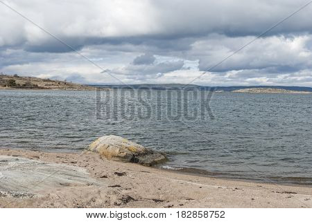 Beach near Gothenburg in Sweden, nature in Sweden