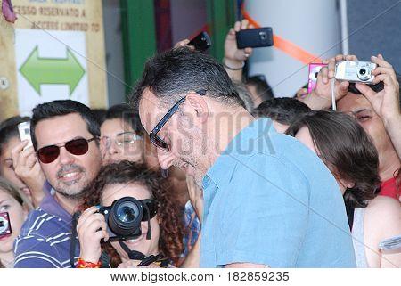 Giffoni Valle Piana Sa Italy - July 21 2012 : Jean Reno at Giffoni Film Festival 2012 - on July 21 2012 in Giffoni Valle Piana Italy
