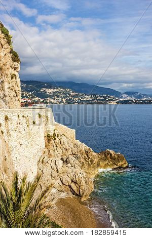 Monaco and Monte Carlo principality sea view.