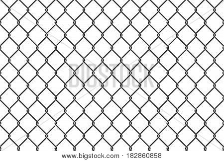 Seamless iron net illustration. metal net fence. Vector background
