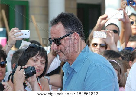 Giffoni Valle Piana Sa Italy - July 21 2012 : Jean Reno at Giffoni Film Festival 2012 - on July 21 2012 in Giffoni Valle Piana Italy