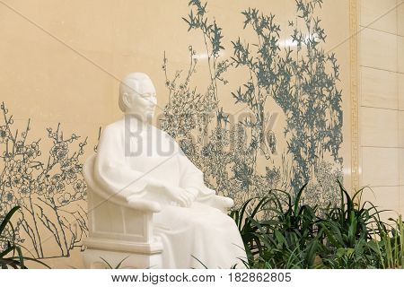 Beijing, China - Oct 19 2015: Song Ching Ling Statue At Former Residence Of Song Ching Ling. A Famou