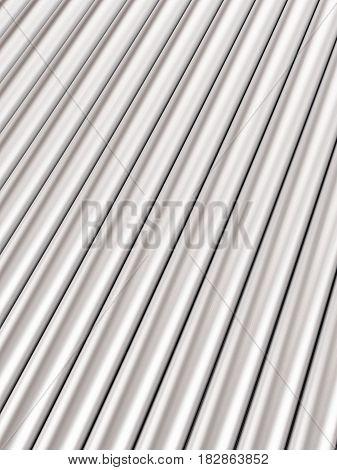 Metal Pipes Background 3D Illustration