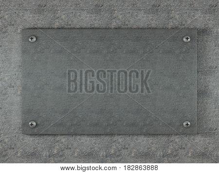 Metal Background 3D Illustration