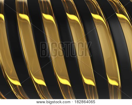Twisted Abstract Background 3D Illustration