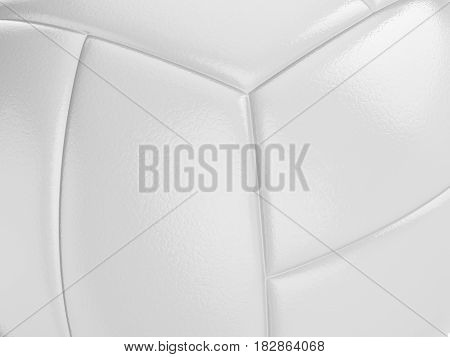 Close-up volleyball ball texture background. 3D illustration.