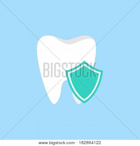 Protection flat icon, Dental and medicine, vector graphics, a colorful solid pattern on a blue background, eps 10.