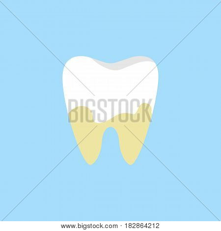 Denatal Plaque flat icon, Dental and medicine, tooth sign vector graphics, a colorful solid pattern on a blue background, eps 10.