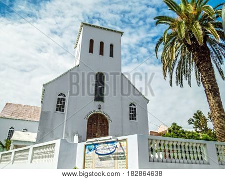SOUTH HAMPTON BERMUDA - MAY 27 - A scenic view of the South Hampton Seventh Day Adventist Church on May 27 2016 in Bermuda.