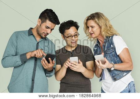 Adults Using Smart Phone Sharing