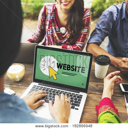 Friends discussing web site development