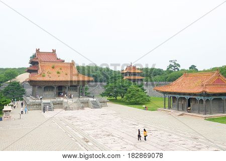 Liaoning, China - Jul 31 2015: Zhaoling Tomb Of The Qing Dynasty(unesco World Heritage Site). A Famo