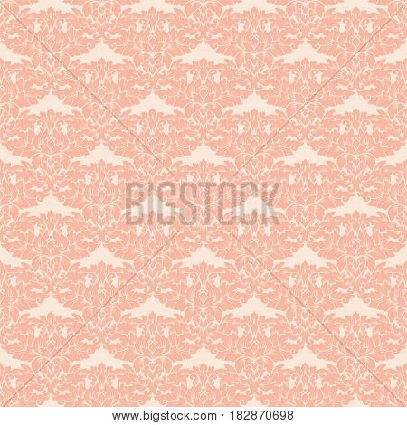 Damask Seamless Pattern Intricate Design. Luxury Royal Ornament, Victorian Texture For Wallpapers, T