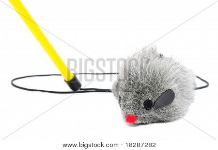 Cat Fishing Toy - Mouse On Rope With Pole