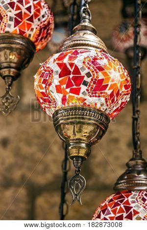 Arabic lamps oriental traditional moroccan souvenirs, Morocco
